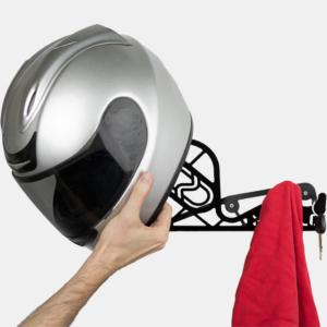 soporte y colgador de casco