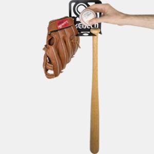 soporte y colgador de beisbol