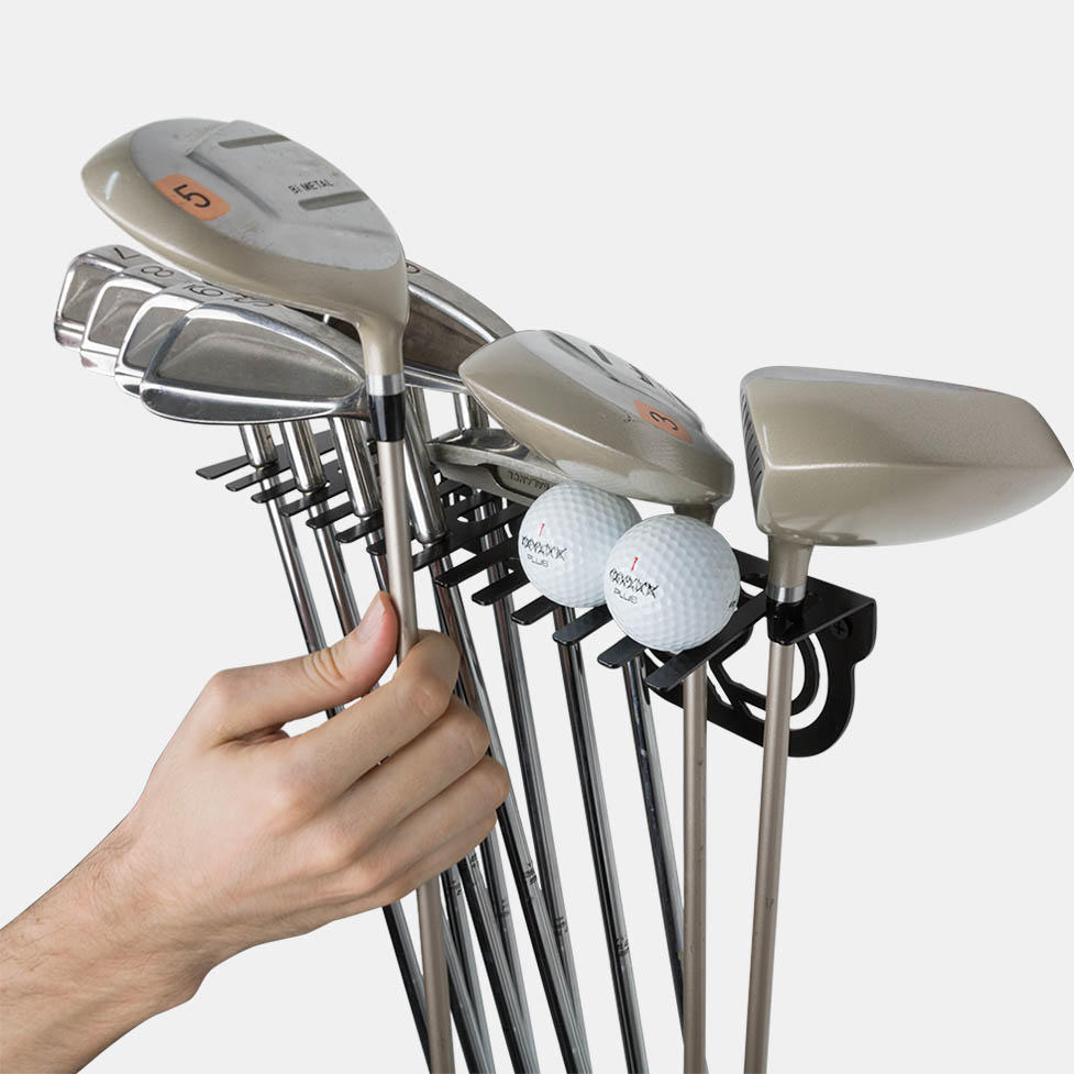 soporte y colgador de golf