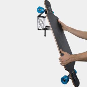 soporte y colgador de longboard