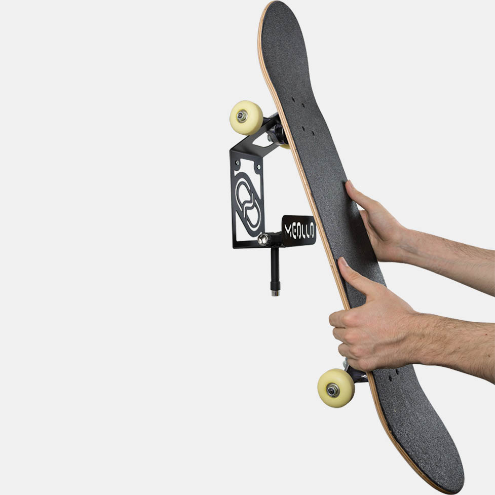 cd775fa8 Skateboard Wall Rack | Wall mounted hooks for storage | Wall racks ...