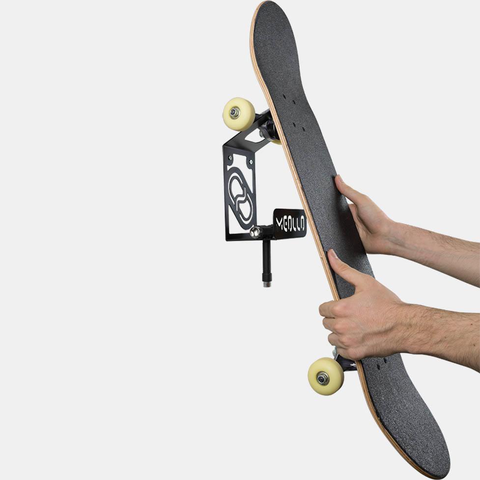 soporte y colgador de skateboard